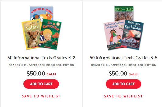 50 books for $50 scholastic teacher store