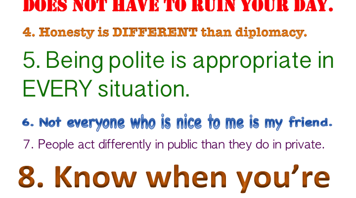 Printable Unwritten Rules of Life Poster for Individuals Autism & Asperger's