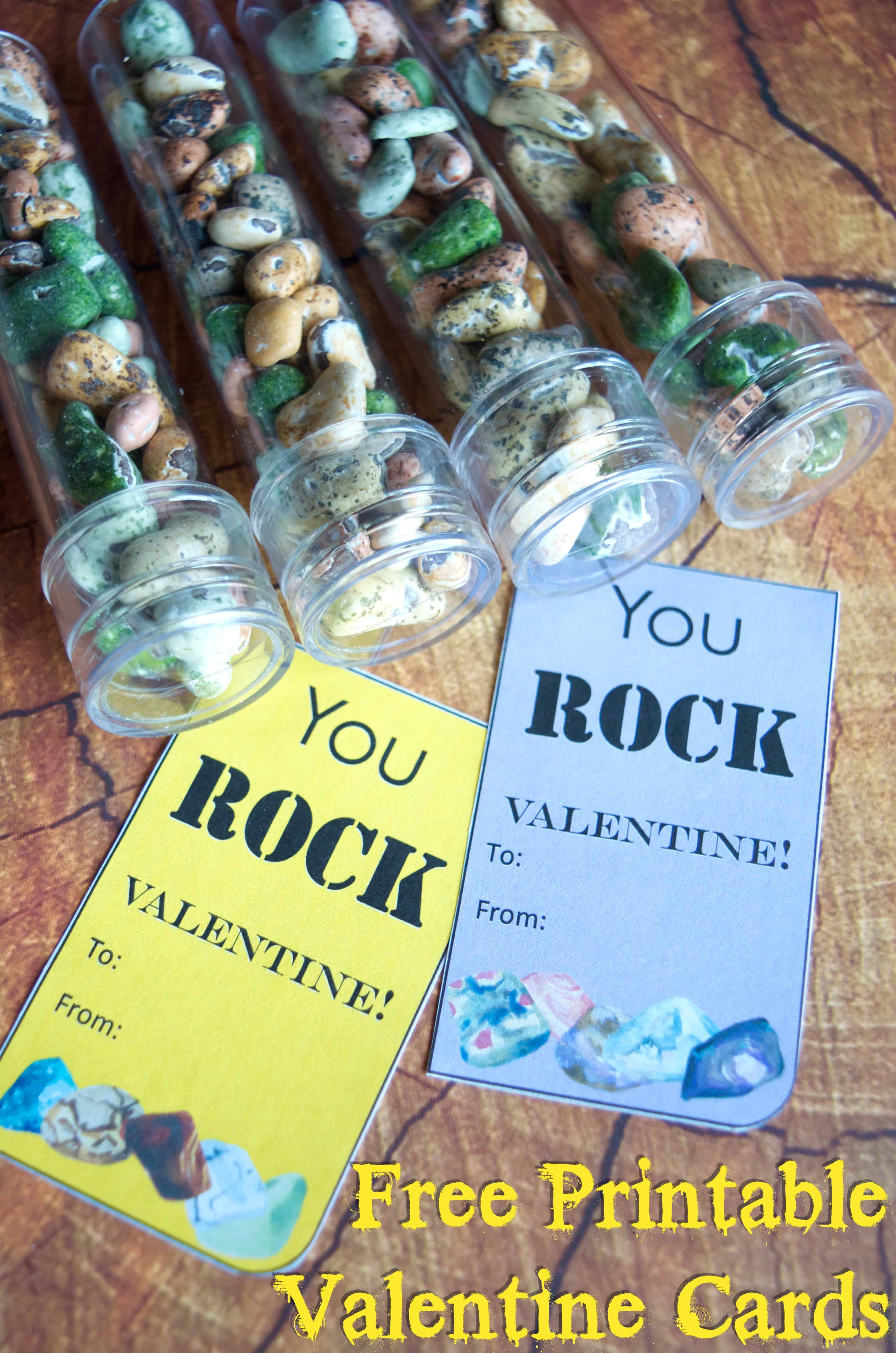You ROCK! Valentine Printable and Classroom Gift Idea