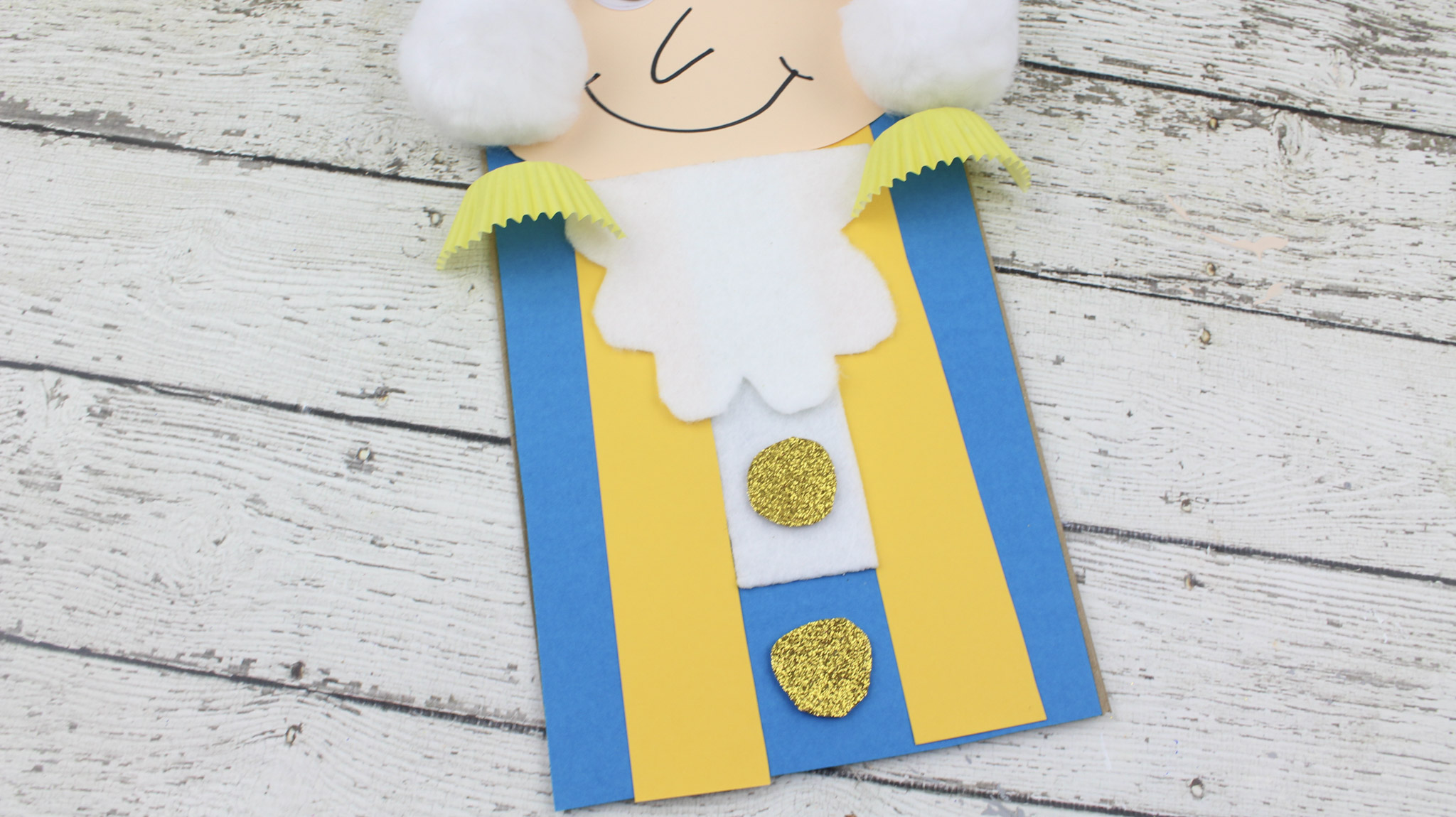 President's Day George Washington Paper Bag Kid's Craft