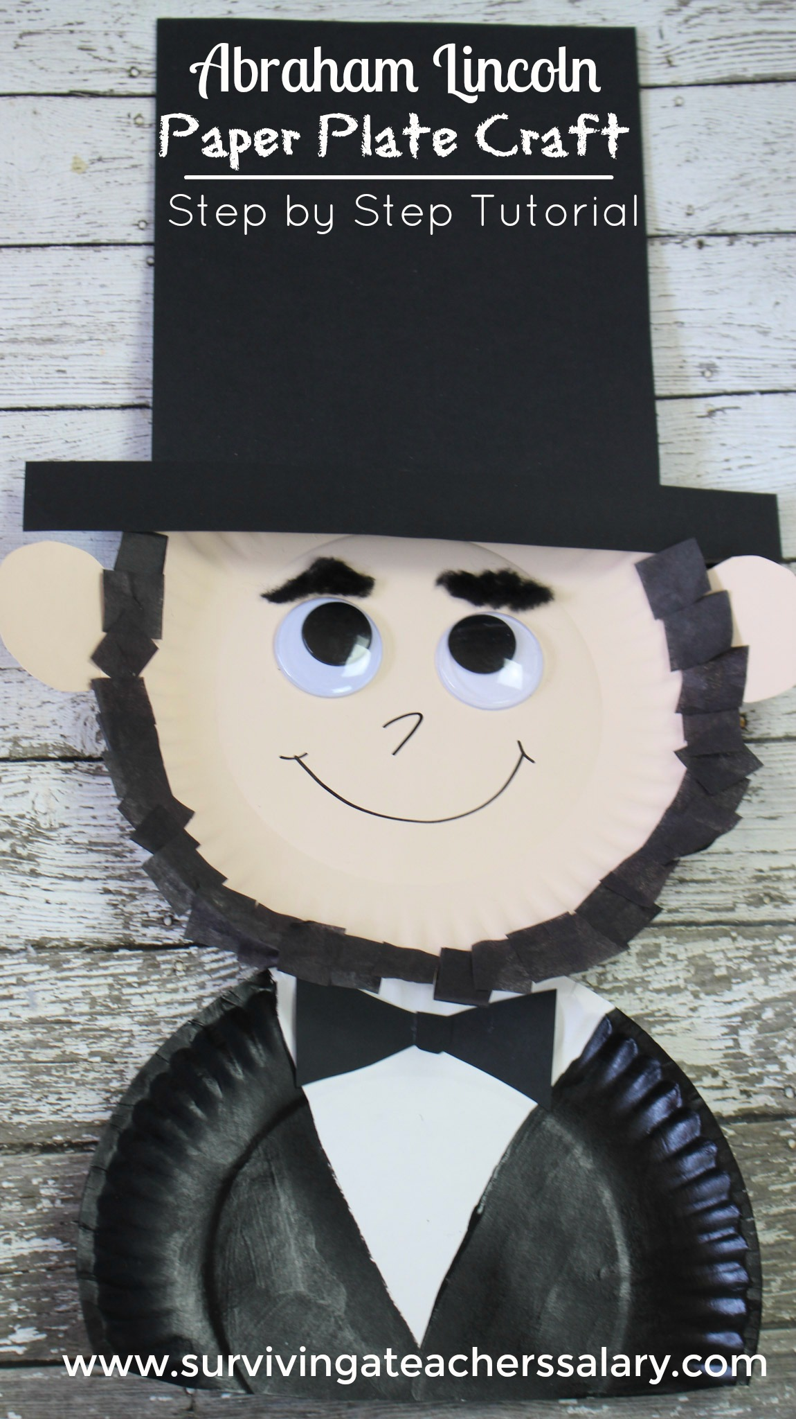 President's Day Abraham Lincoln Paper Plate Kid's Craft