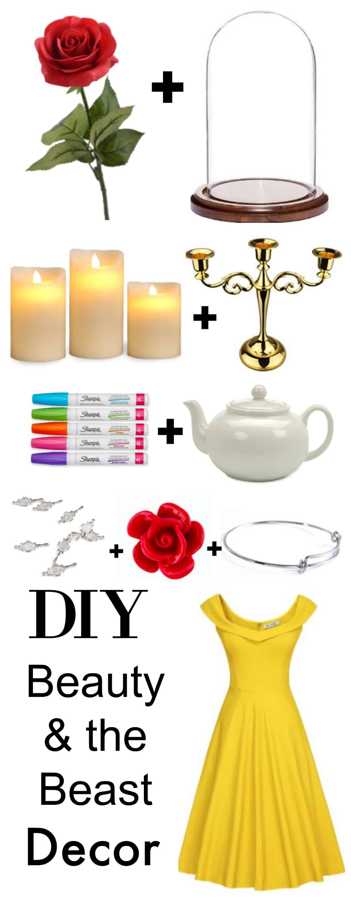 diy belle inspired beauty the beast jewelry tutorial. Black Bedroom Furniture Sets. Home Design Ideas