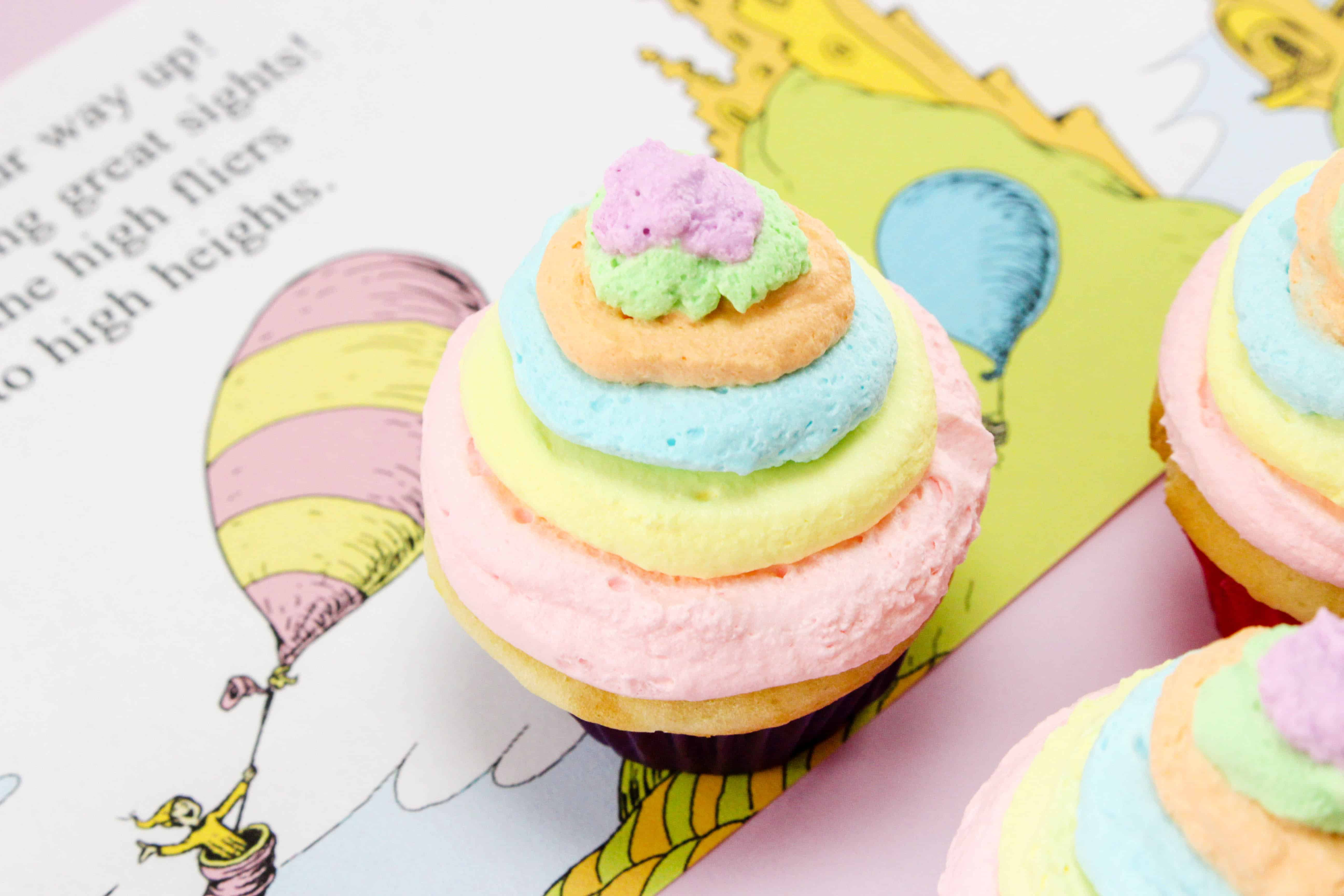 delicious Dr. Seuss Oh the Places You'll Go Cupcakes Recipe
