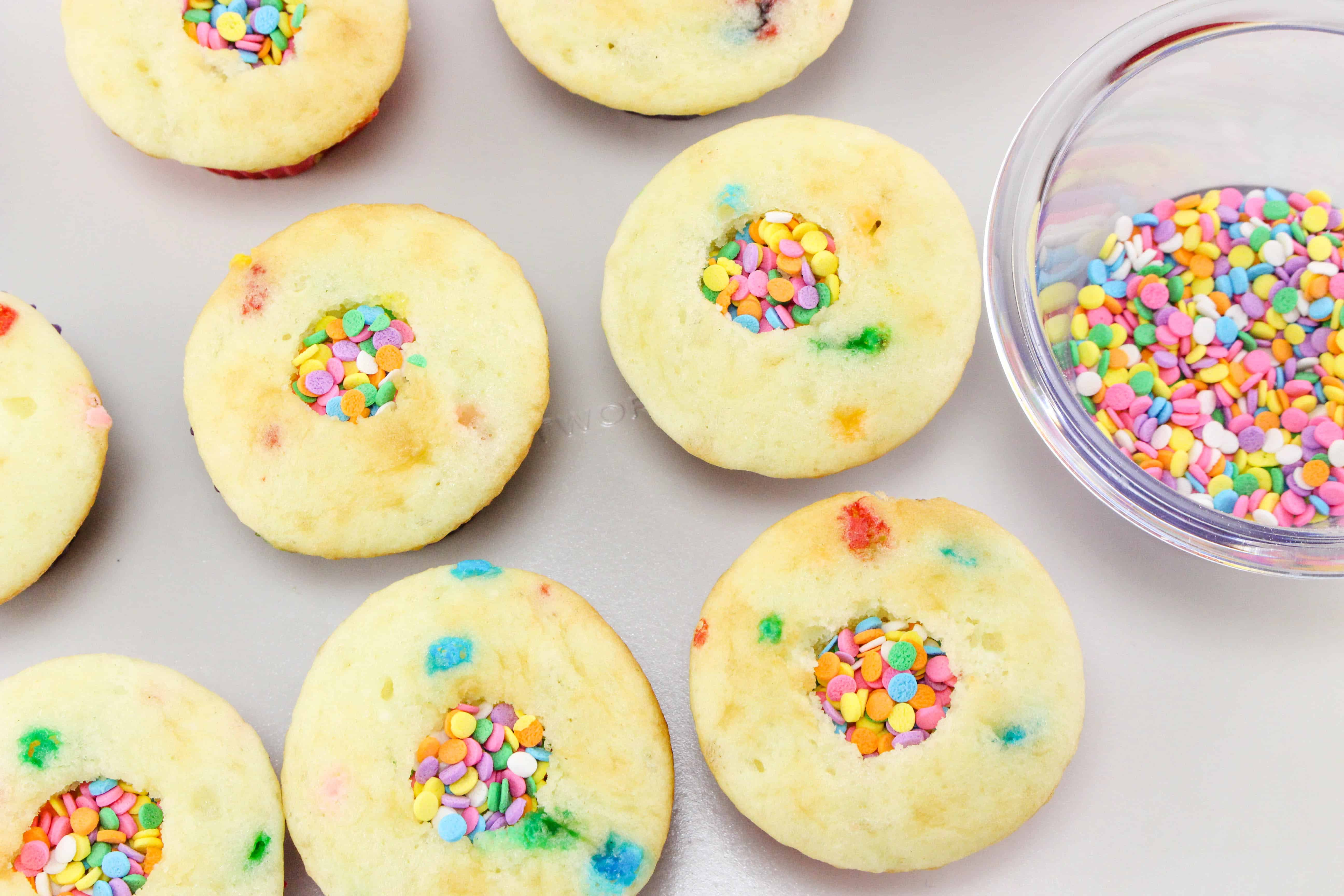 sprinkles in Oh the Places You'll Go Cupcakes