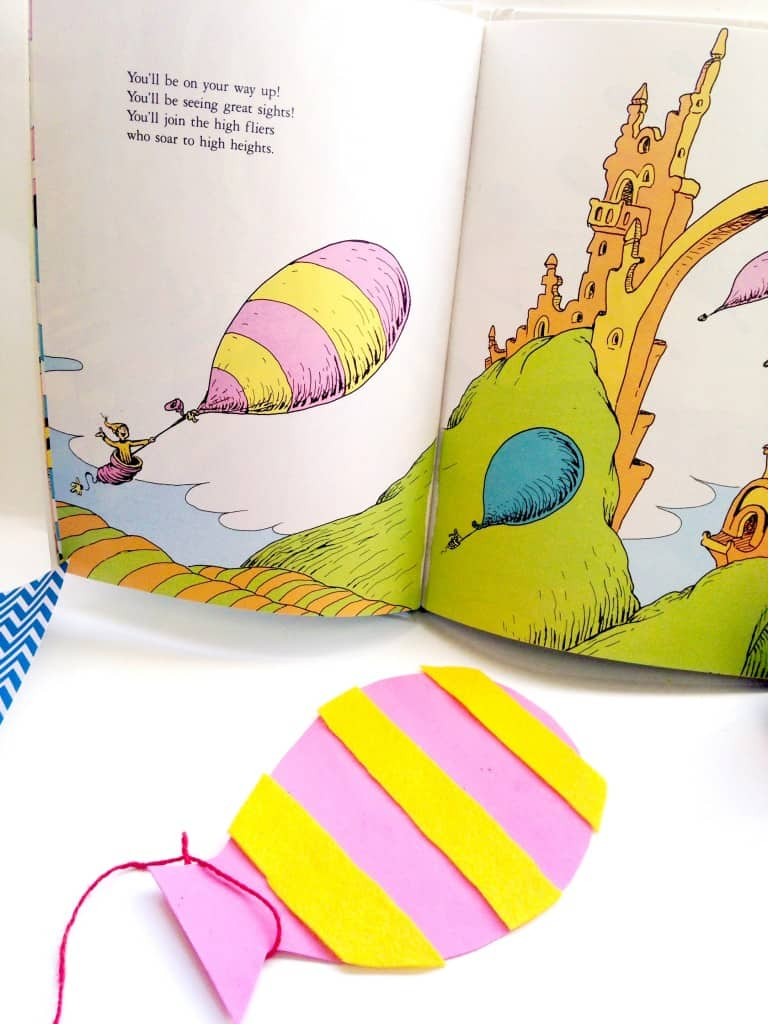Oh the Places You'll Go Dr Seuss balloon craft
