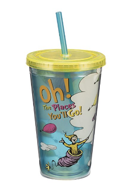 Oh the Places You'll Go tumbler cup