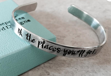 Oh the Places You'll Go Bracelet on Etsy