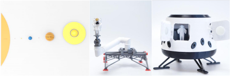 Space 3d printing models