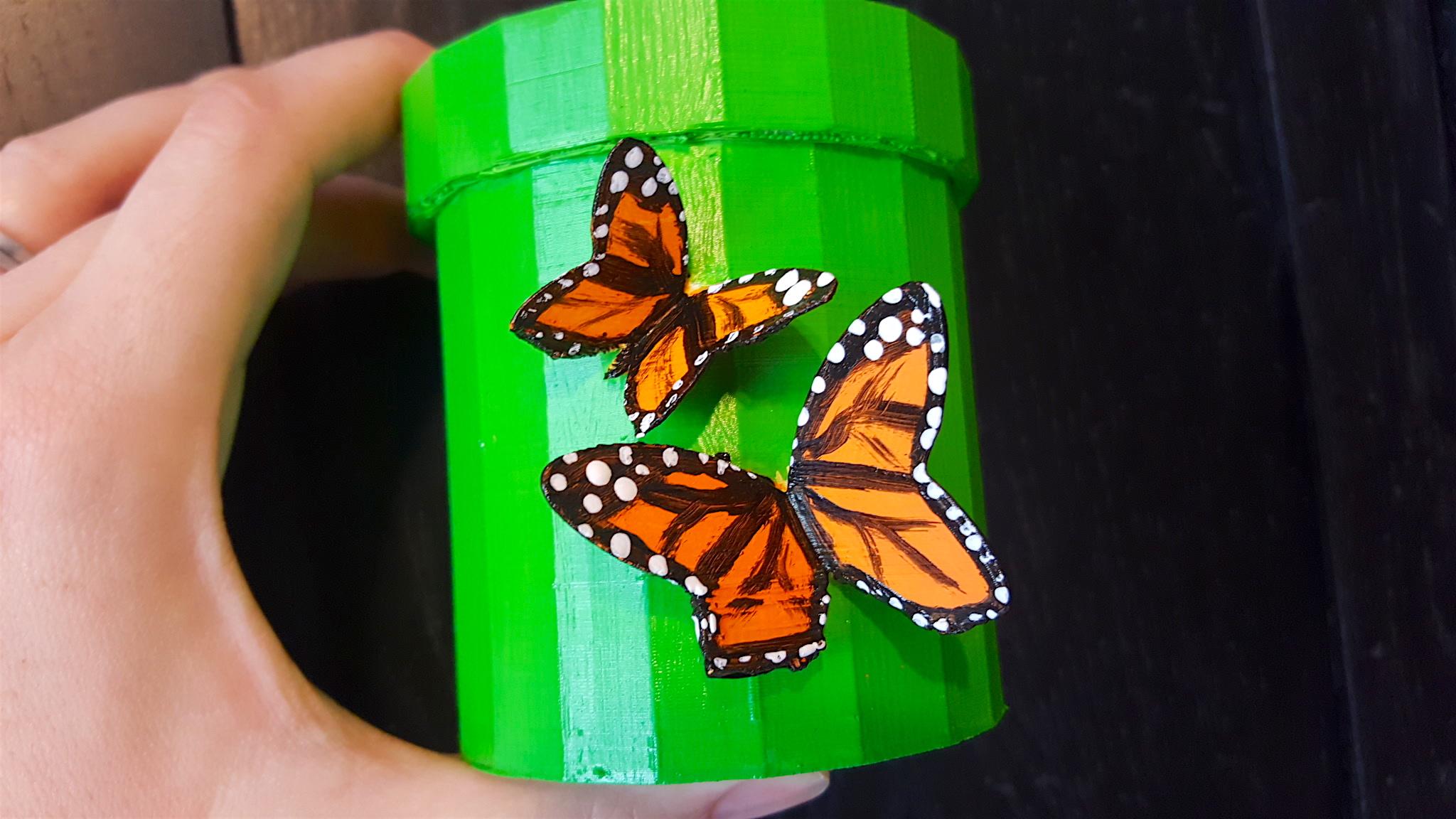 3D Printed Butterfly Flower Pot