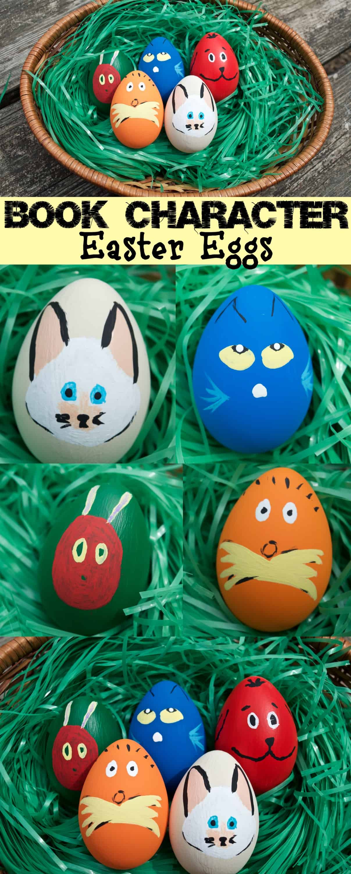 Cute Children 39 s Book Character Easter Egg Decor