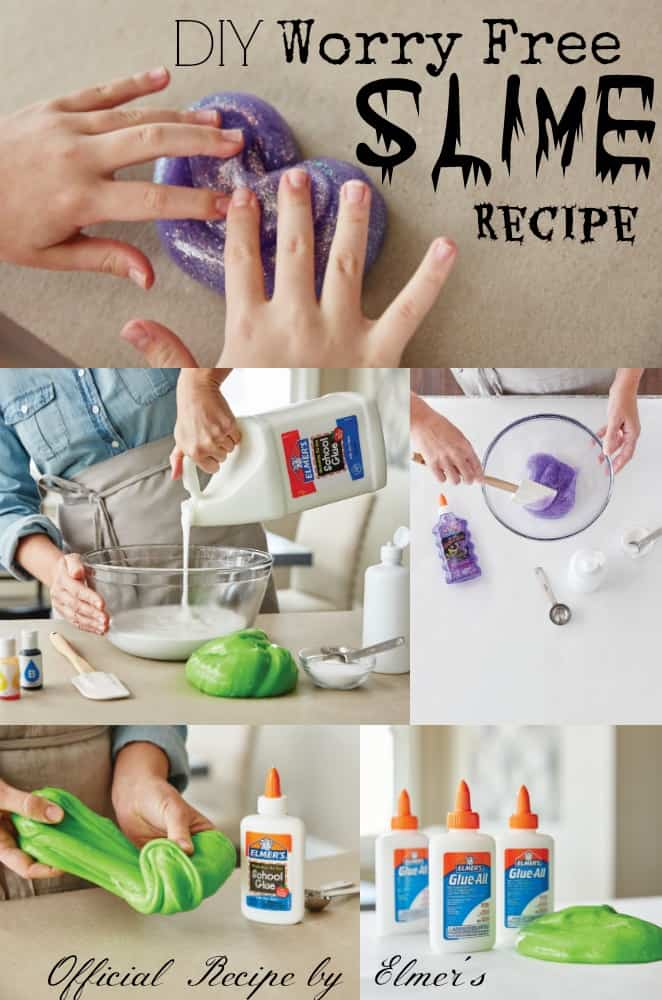 DIY Worry Free Slime Recipe by Elmer's Glue