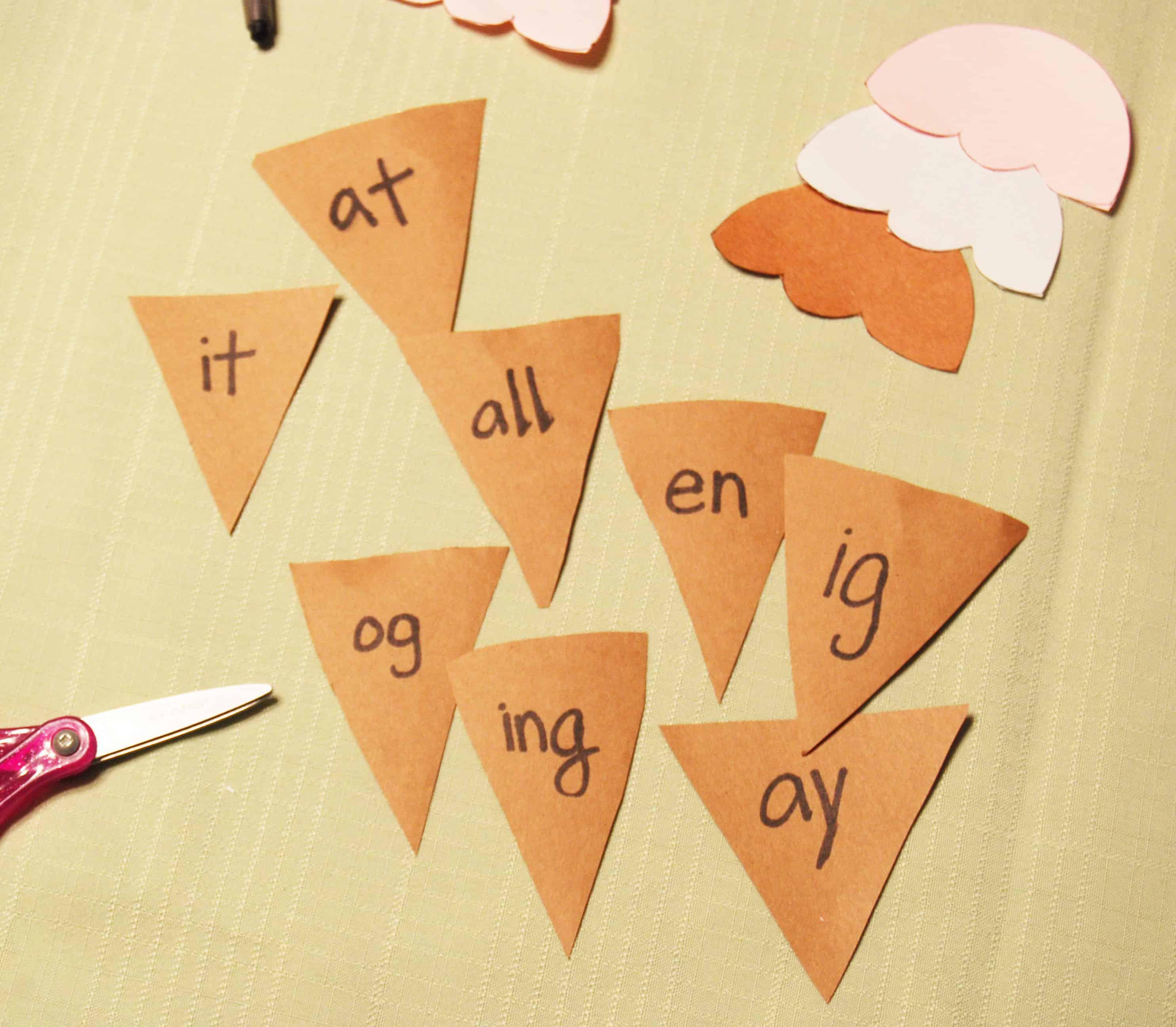 Ice Cream Word Families