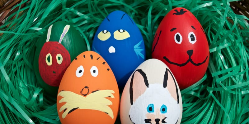 Cute Children's Book Character Easter Egg Decor