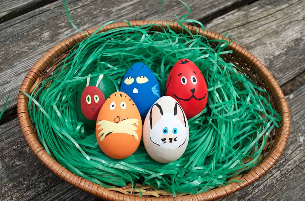 Cute Children's Book Character Easter Egg Decor