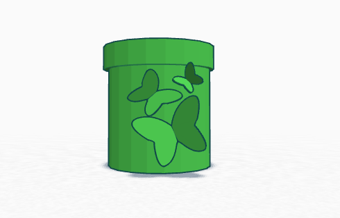 FREE Butterfly Flowerpot 3D Printing File for Earth Day Gardens