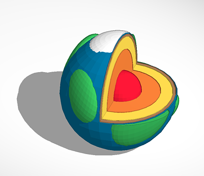 Layers of the Earth 3D Printing File
