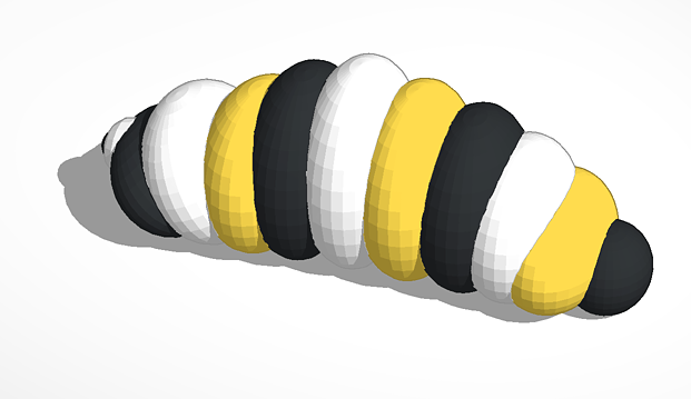 Monarch Caterpillar 3D Printing File
