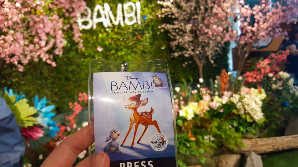 Bambi paper Press Badge in forest scene