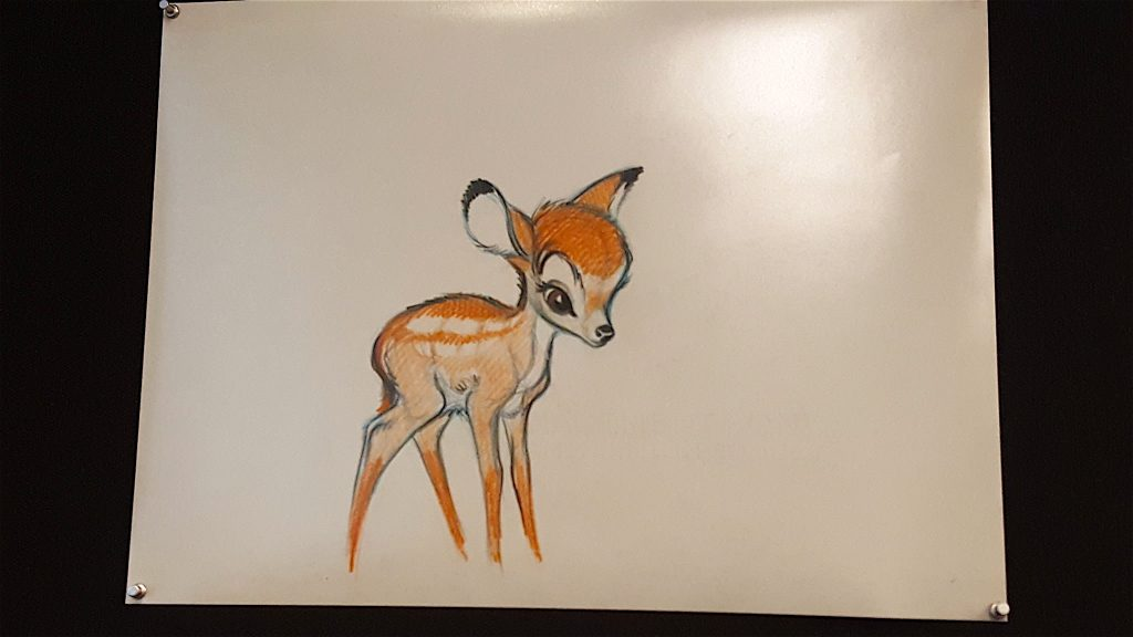 hand drawn original Disney Bambi art