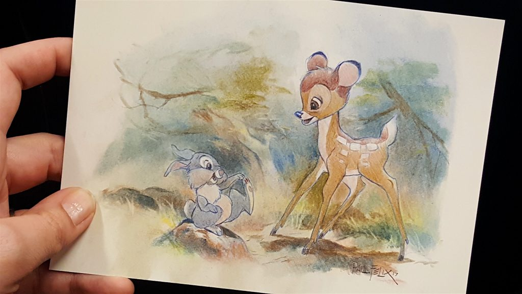 Disney Bambi Lithograph art work