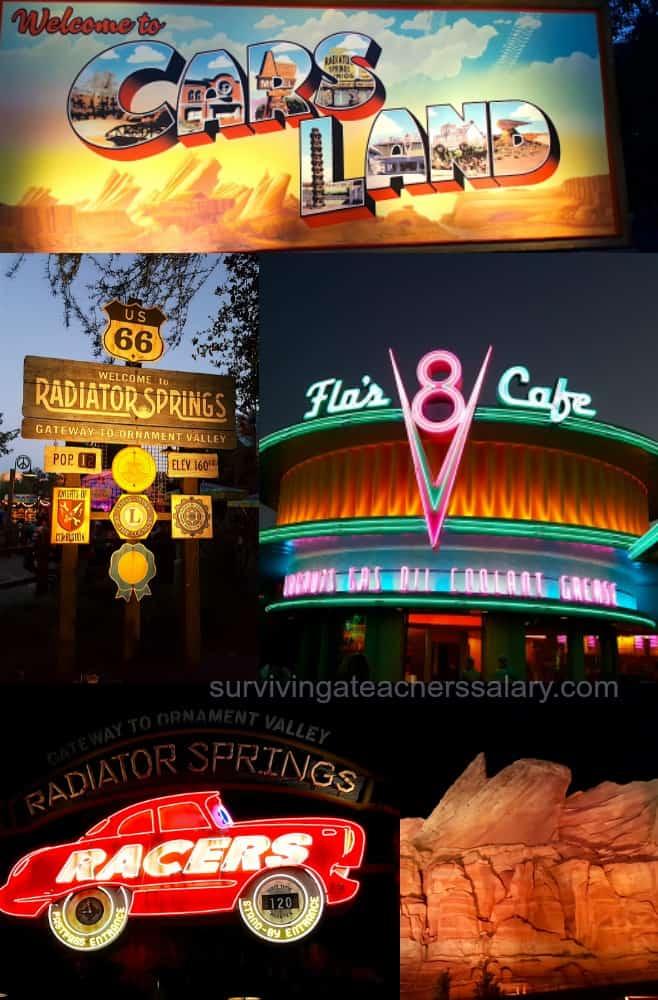 Cars Land Disneyland Collage