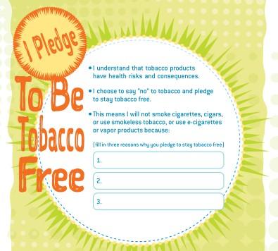Anti-Tobacco Teacher Resources Pledge Card