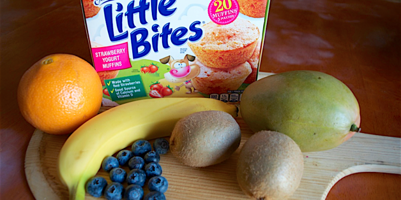 Pre-Pack Frozen Fruit Smoothies Recipe + Entenmann's Little Bites Muffins