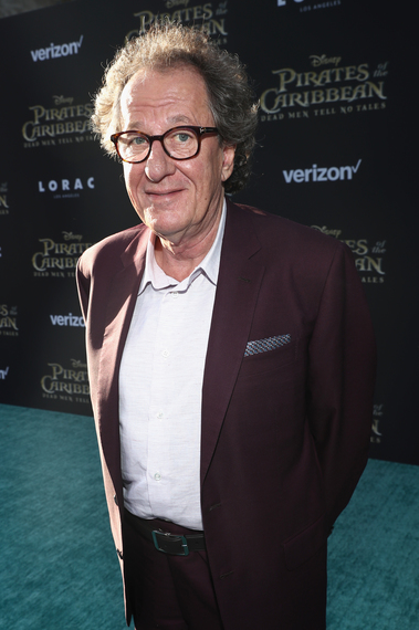 Geoffrey Rush at the Pirates of the Caribbean: Dead Men Tell No Tales Premiere