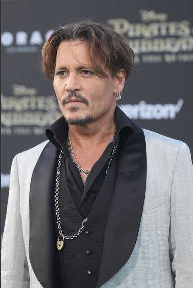 Johnny Depp at the Pirates of the Caribbean: Dead Men Tell No Tales Premiere