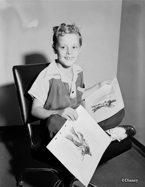 Donald Dunagan as a young child at Walt Disney Studios