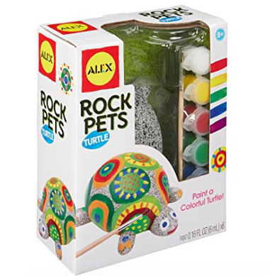 Paint Your Own Paint Rock Pet Turtle Craft gift set