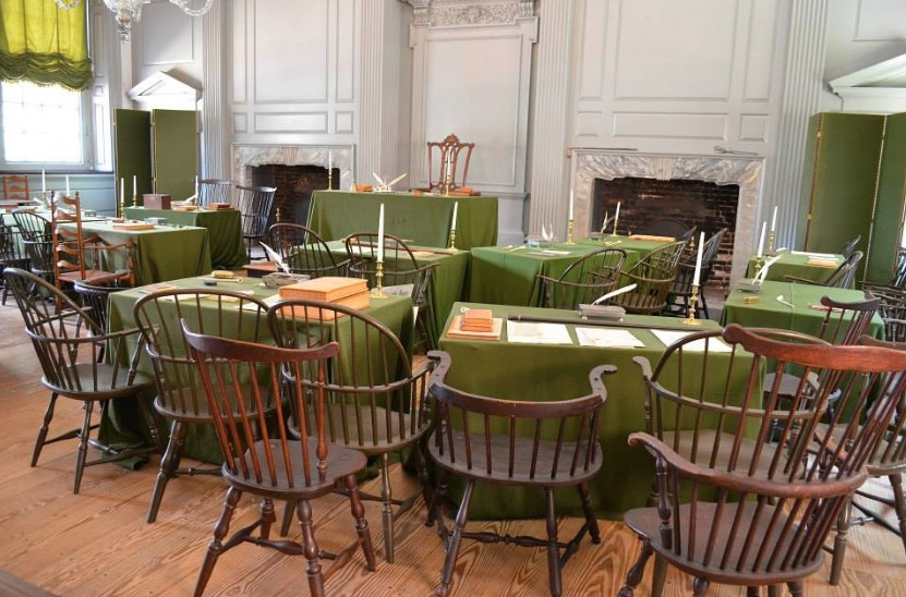 Independence Hall signing room