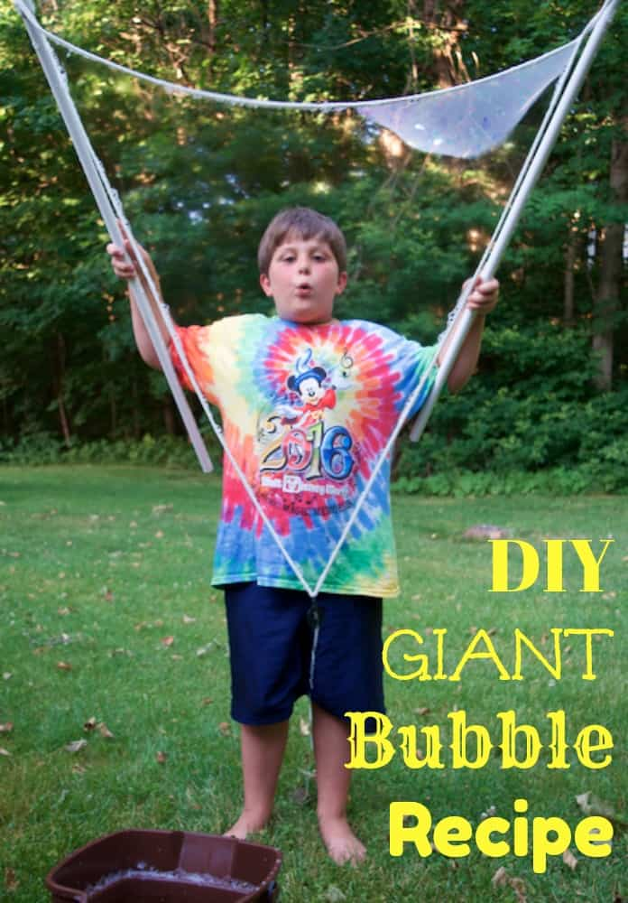 DIY Giant Bubble Recipe for Kids
