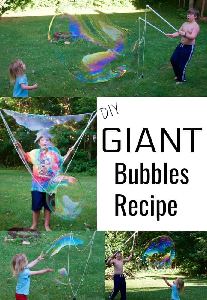 DIY Giant Bubbles Recipe and Activities