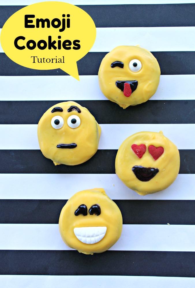 Emoji Movie Cookies Tutorial + Emoji Fidget Spinners List