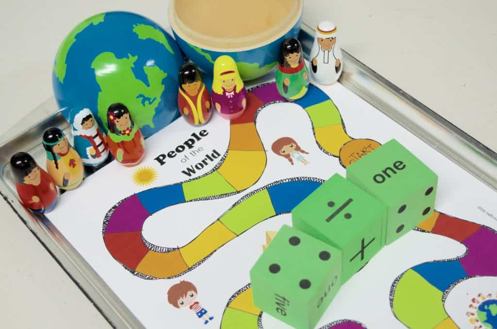 Free People of the World Geography Game Printable