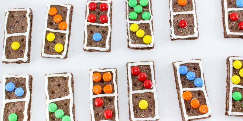 Make Math Fun with Edible Dominoes Graham Crackers Recipe