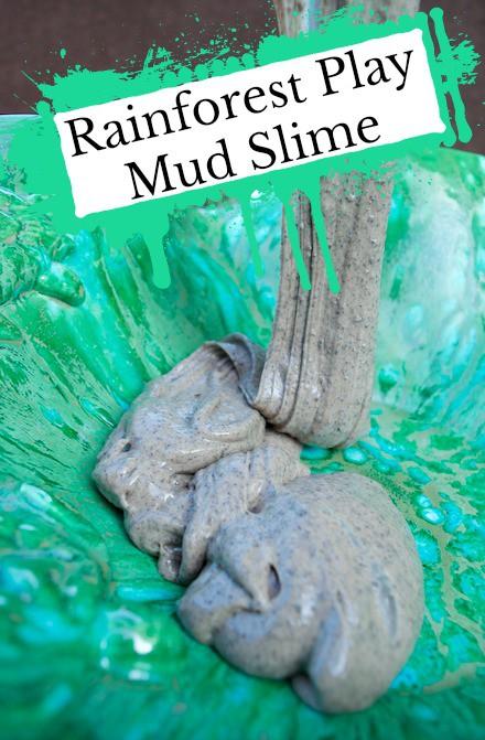 Rainforest Mud Slime Recipe Tutorial For Sensory Play