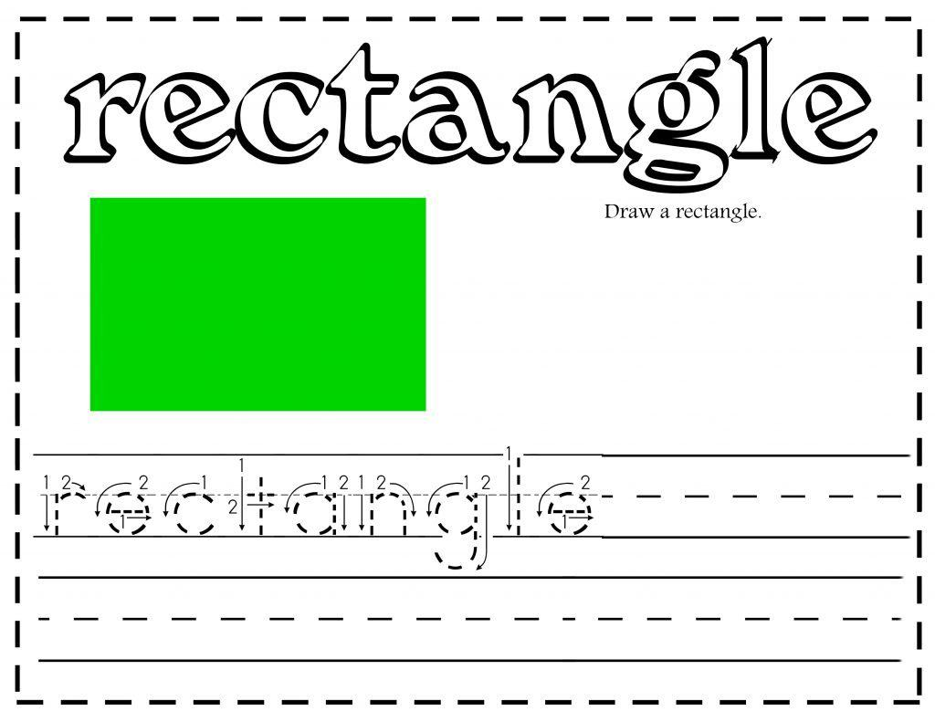 All about learning shapes printables and activities - Rectangle