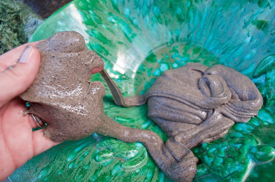 pile of mud slime in bowl