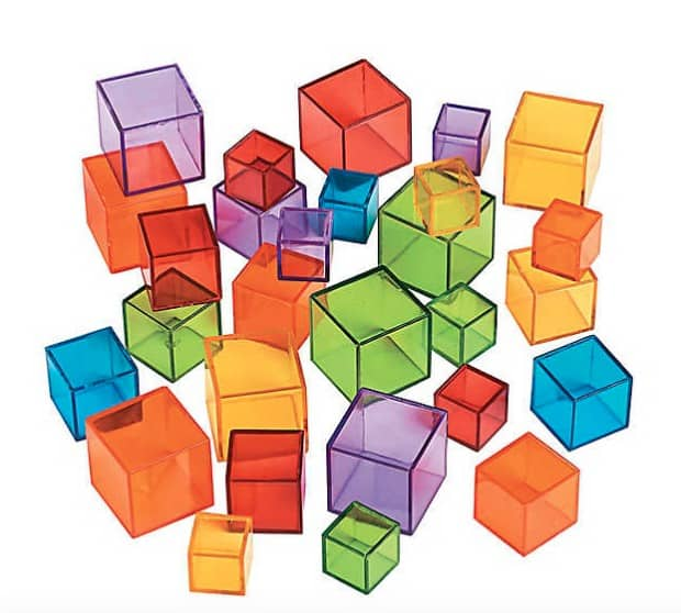 opaque transparent cube counters