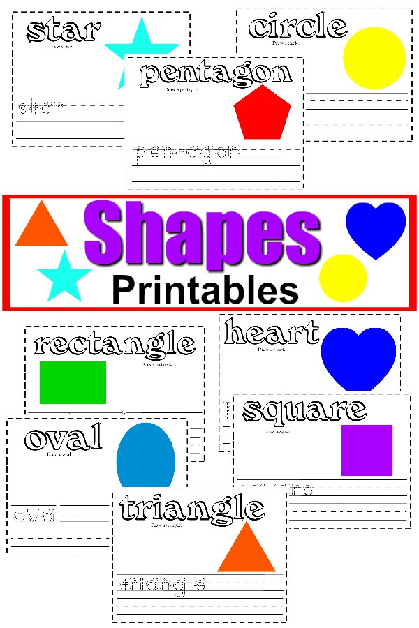 All about learning shapes printables and activities