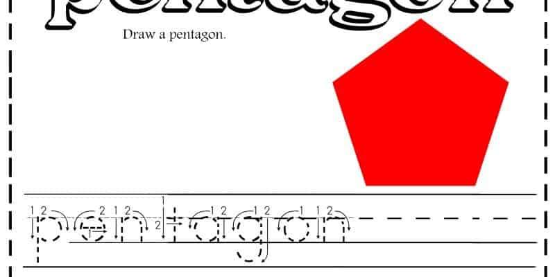 Free Shapes Handwriting Printable Worksheets + Activities