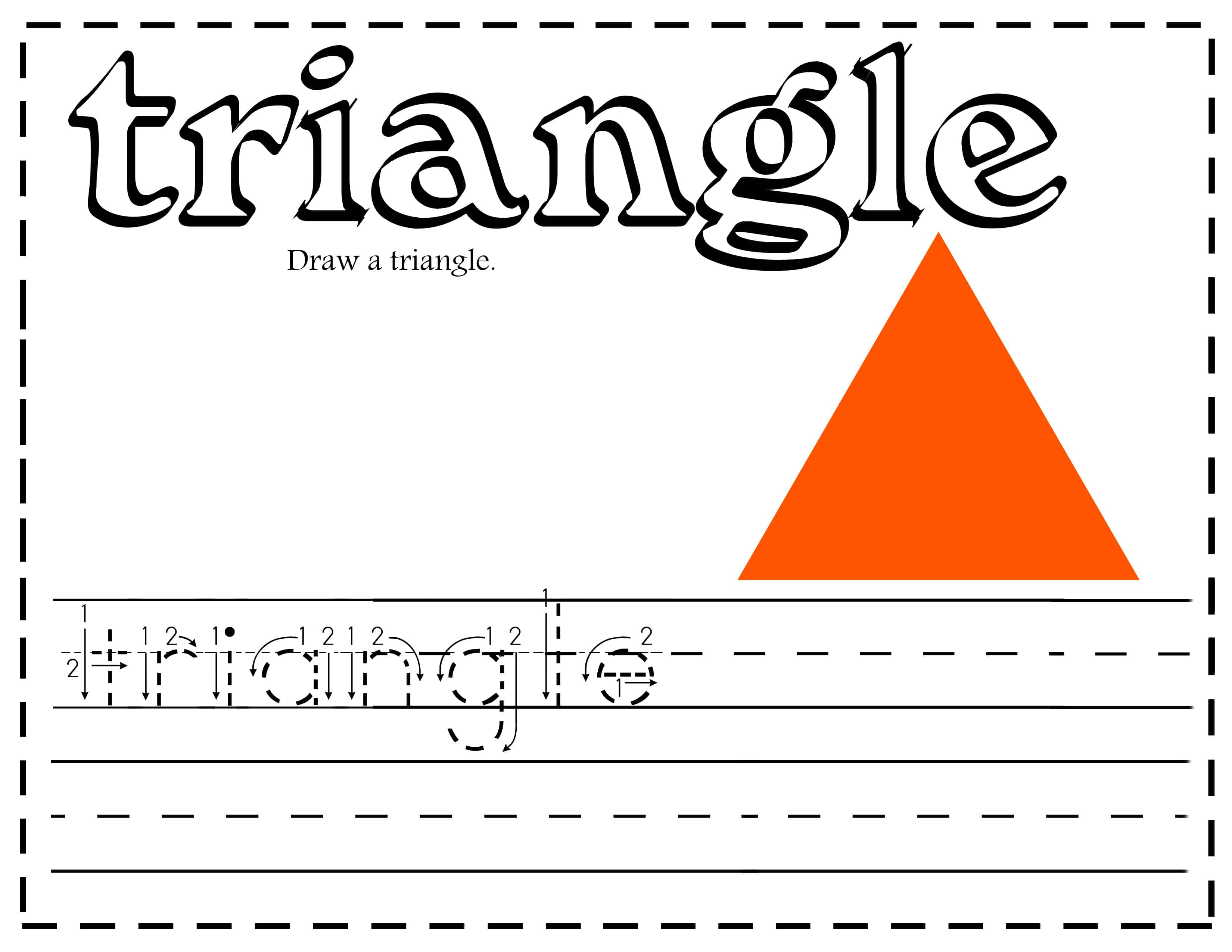 All about learning shapes printables and activities - Triangle