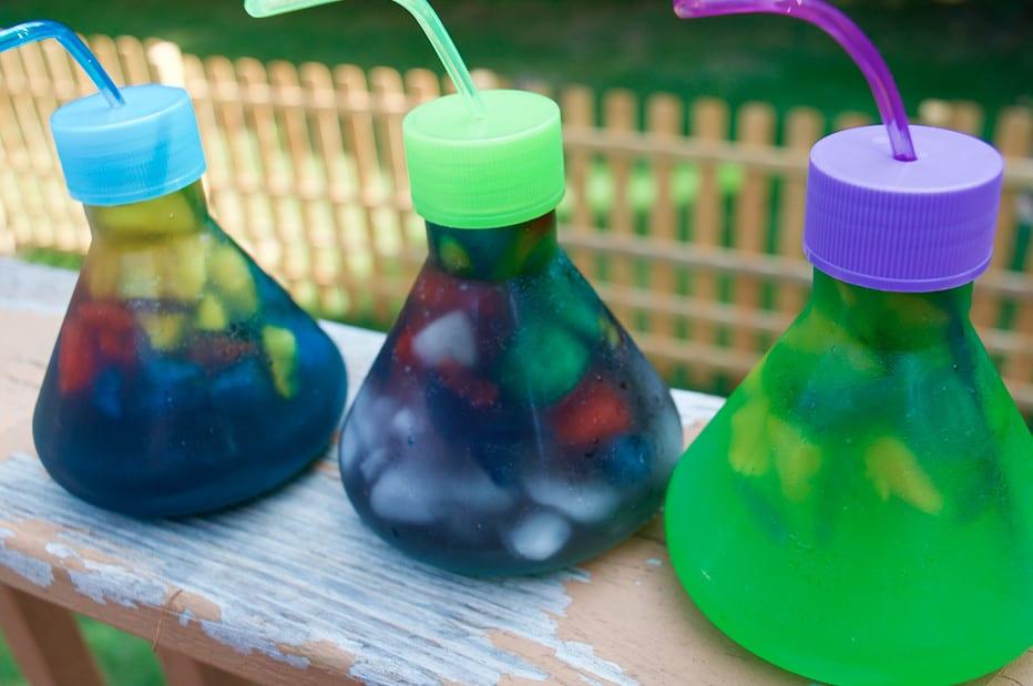 Swampy Zombie Toxic Waste Science Party Drinks Recipe Idea