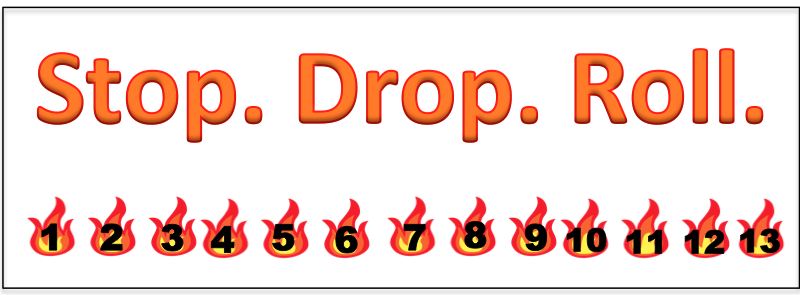 Fire Safety Punch Card Bookmarks
