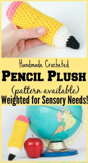 pencil plush toy crochet pattern