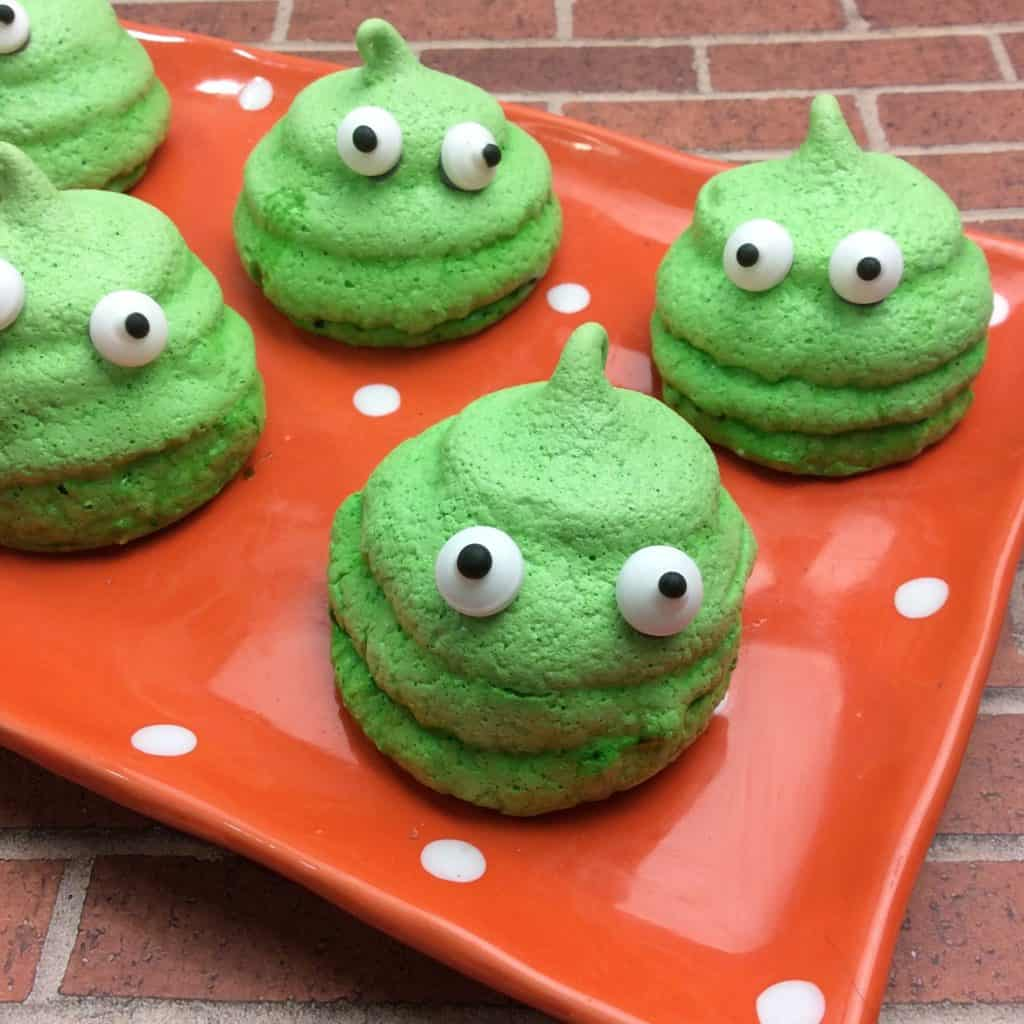 green Slime Cookies Recipe on a plate