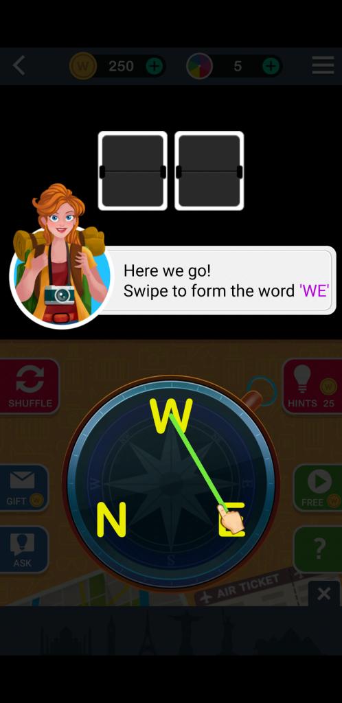 free Word Trip Game app