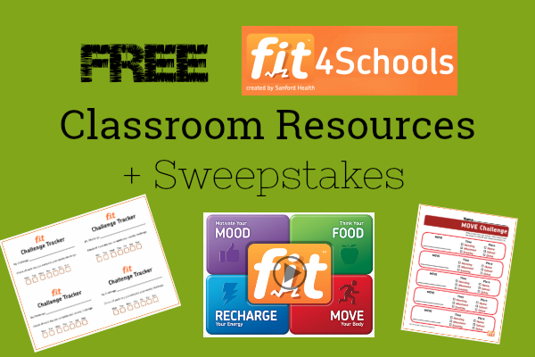 FREE Health Activation for Classrooms + fit4Schools Sweepstake!